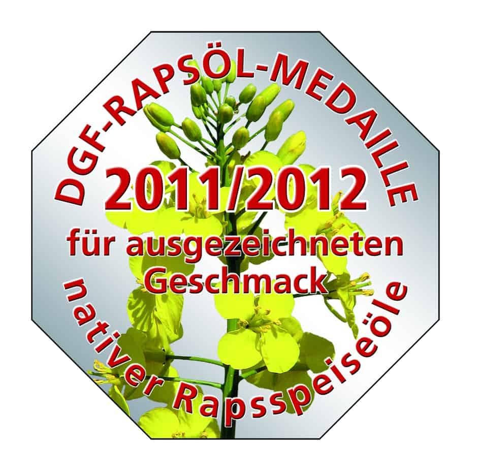 DGF-Rapsoel-Medaille 2011/2012